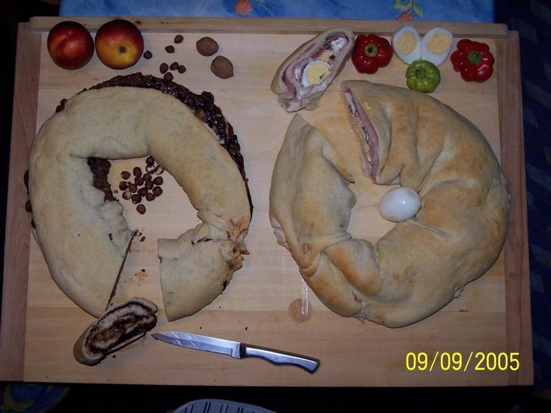 Chlebové plněné věnce