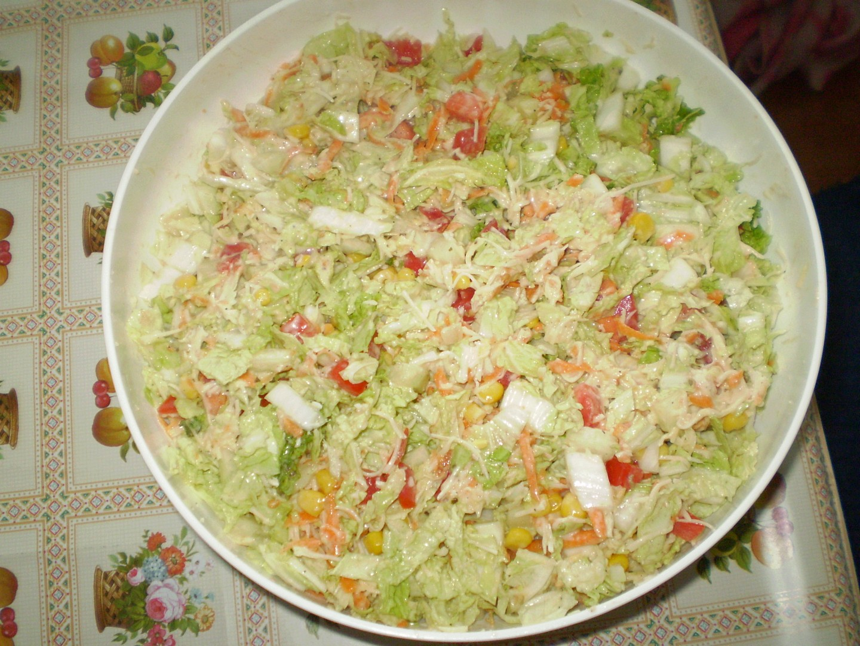 Chutný salát z čínského zelí