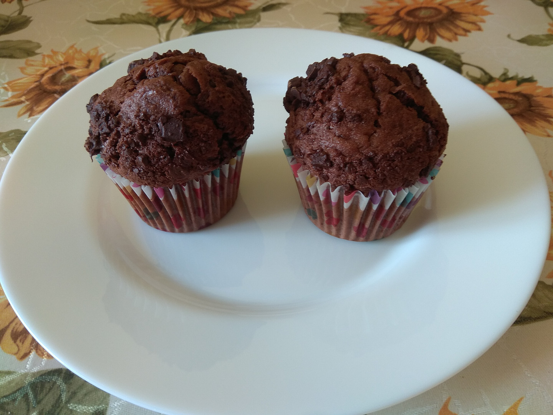 Čokoládové muffiny bez mléka