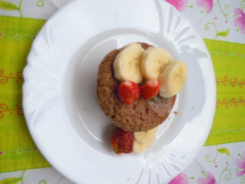 Čokoládové muffiny s pudinkem