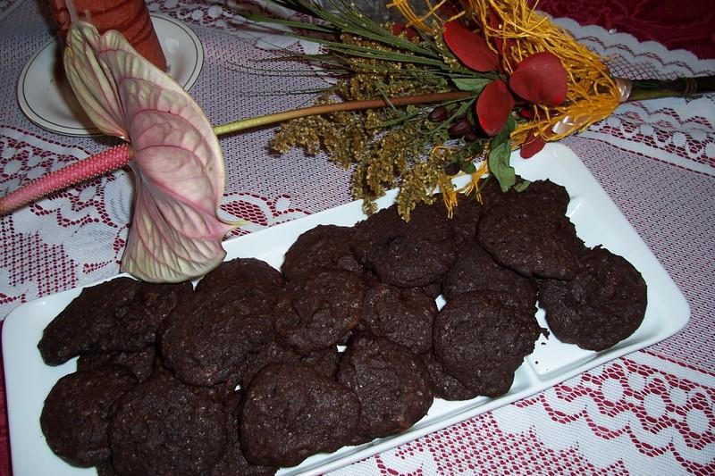 Čokoládové sušenky s kousky čokolády