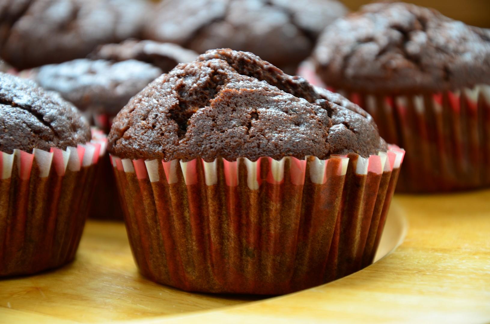 Cuketové muffiny s kakaem