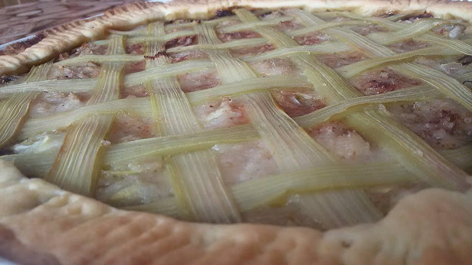 Cuketovo - rebarborový koláč