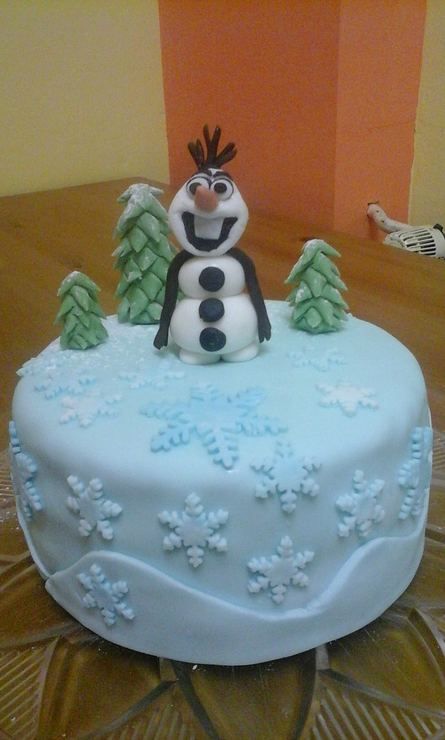 Dort - Ledové království s Olafem - moje dorty