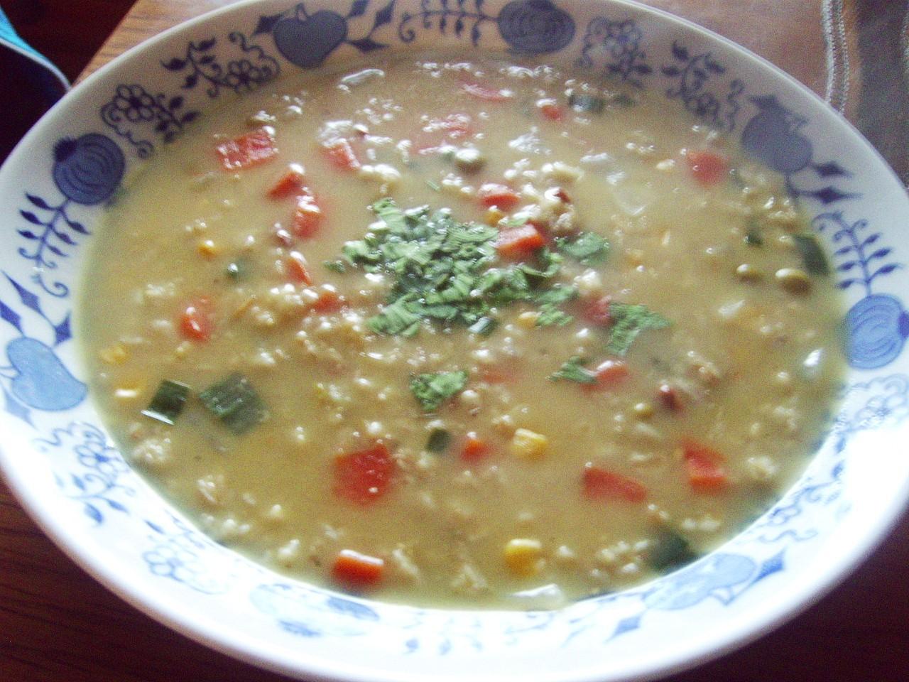 Drožďovo-vločková polévka