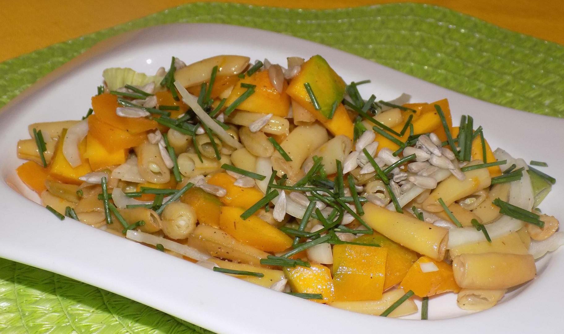 Dýňovo-fazolkový salát