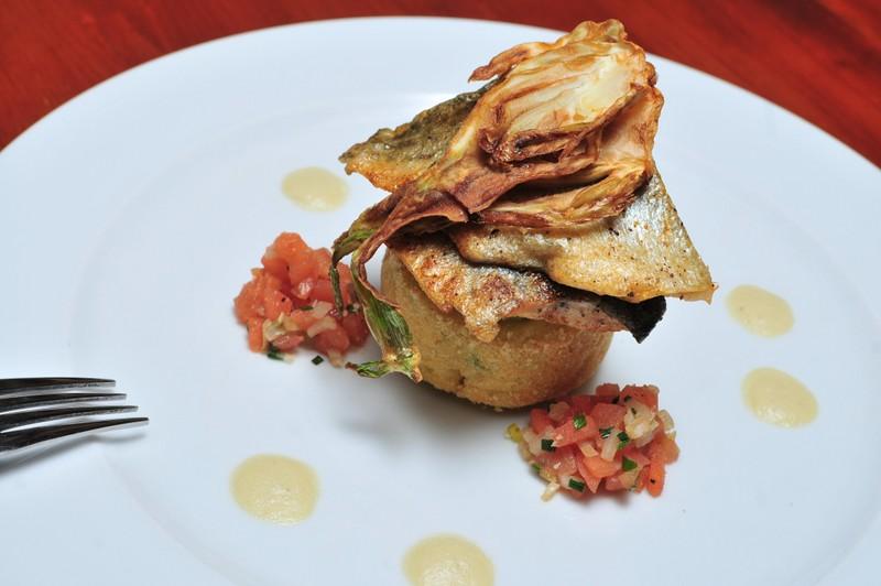 Filet ze pstruha s chřestovo-fenyklovým přelivem