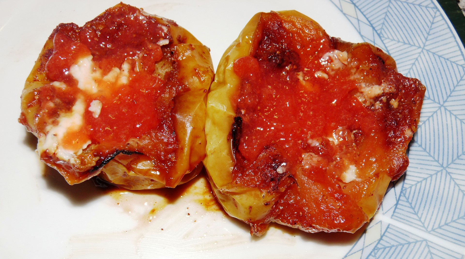 Grilovaná jablka s marmeládou i pro dia