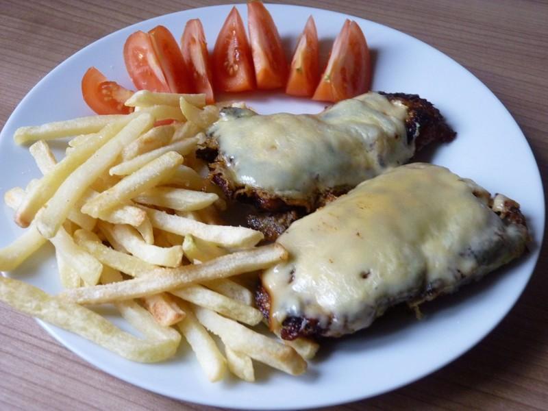 Hořčičné řízky se sýrem