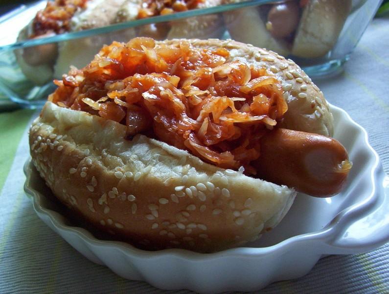 Hot dog se zelím