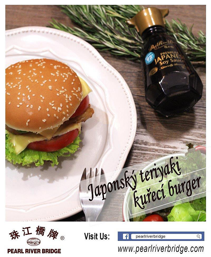 Japonský teriyaki kuřecí burger