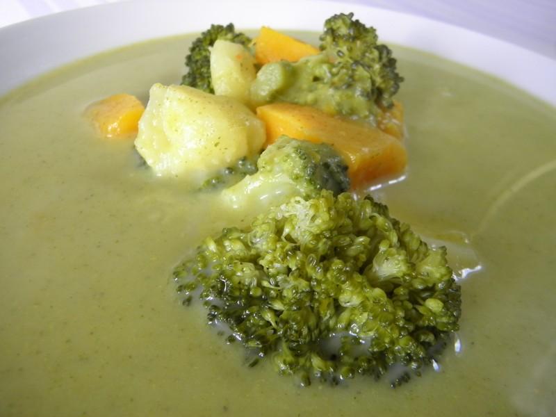 Jemná brokolicová polévka s dýní
