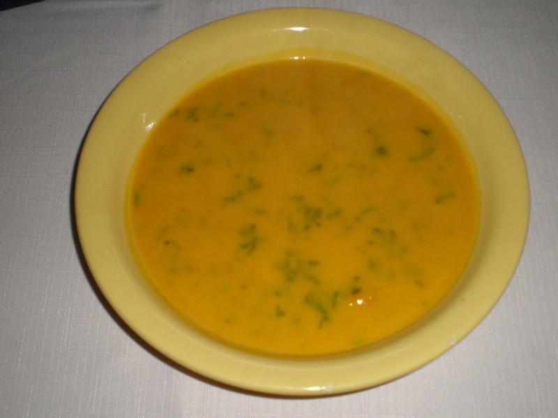 Jemná dýňová polévka se smetanou