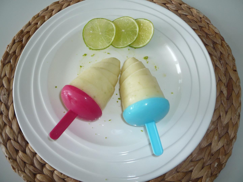 Jogurtové nanuky s limetou (bez laktózy)