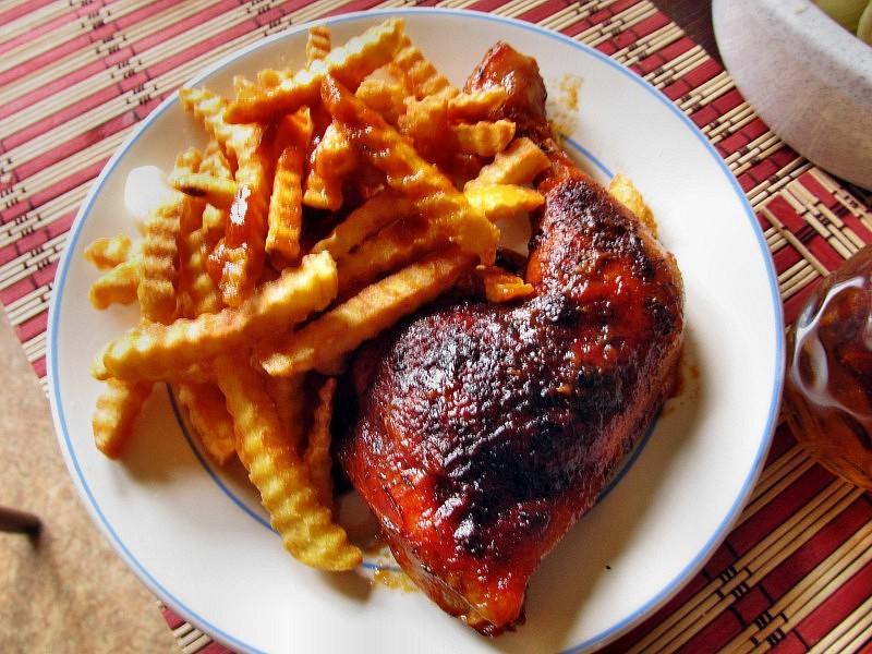 Kadlíkovo kuře na kečupu