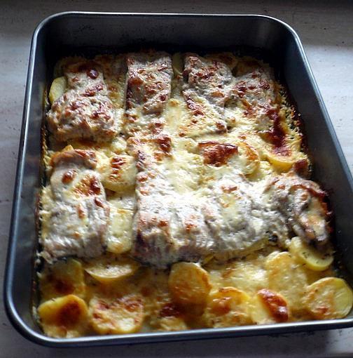 Kapr na bramborách.