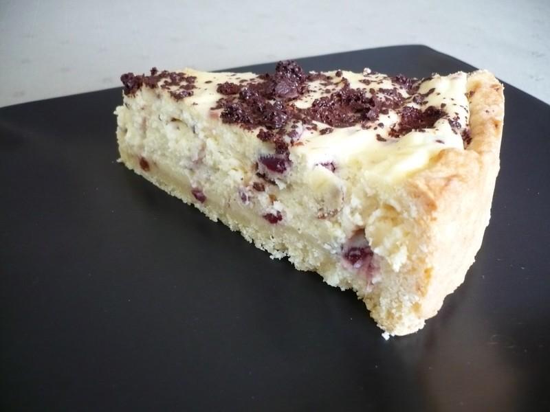 Křehký koláč s tvarohovou náplní