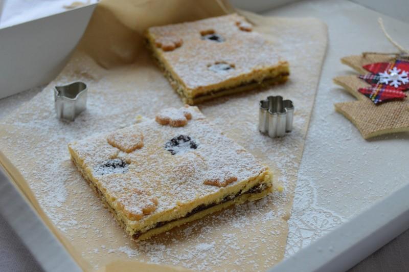 Křehký linecký koláč