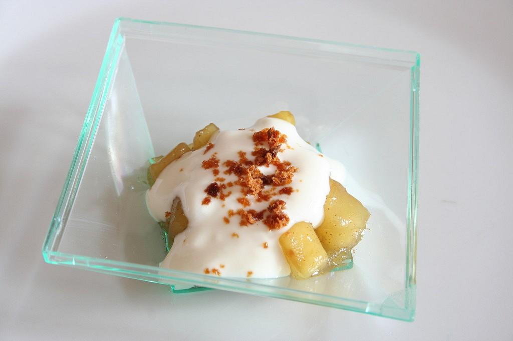 Lehký jablečný dezertík