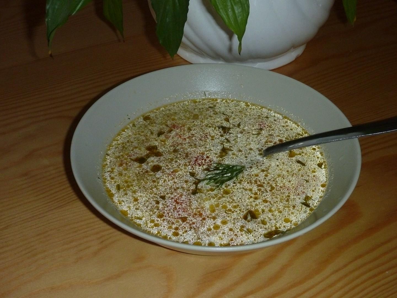 Letní polévka z tykve