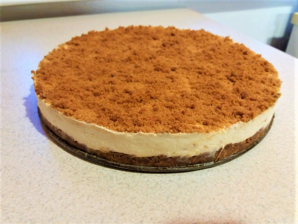 Lotus cheesecake z tvarohu (bez pečení)