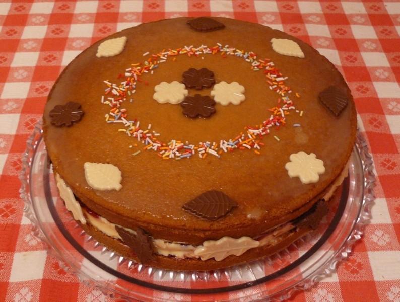 Medový dort s vanilkovým krémem