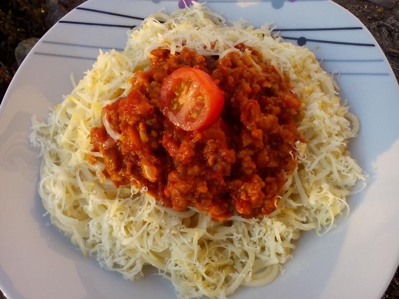 Milánské špagety s mletým masem