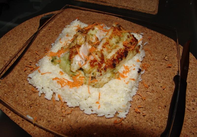 Okoun na rýžovém polštářku