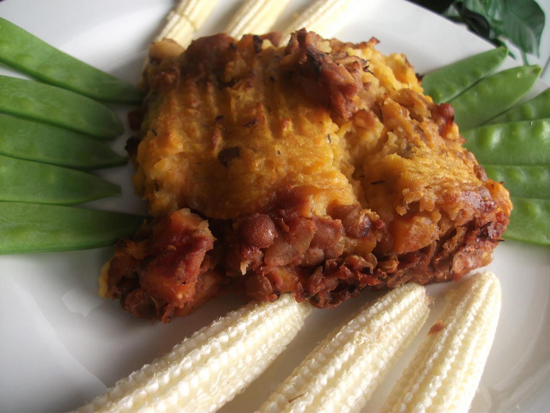 Pastýřský koláč (Shepherd's pie) - vegetariánská verze