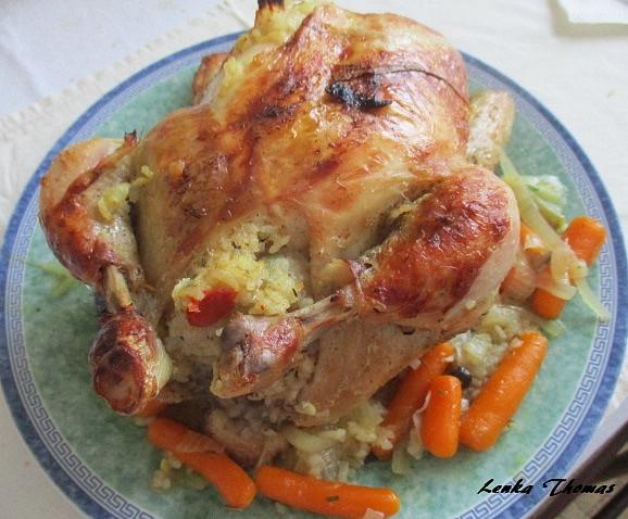 Pečené rizotové kuře