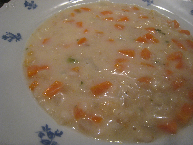 Polévka z ovesných vloček a zeleniny