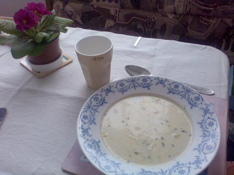 Pórková polévka s tymiánem