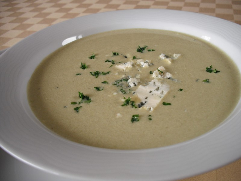 Pórková polévka se sýrem