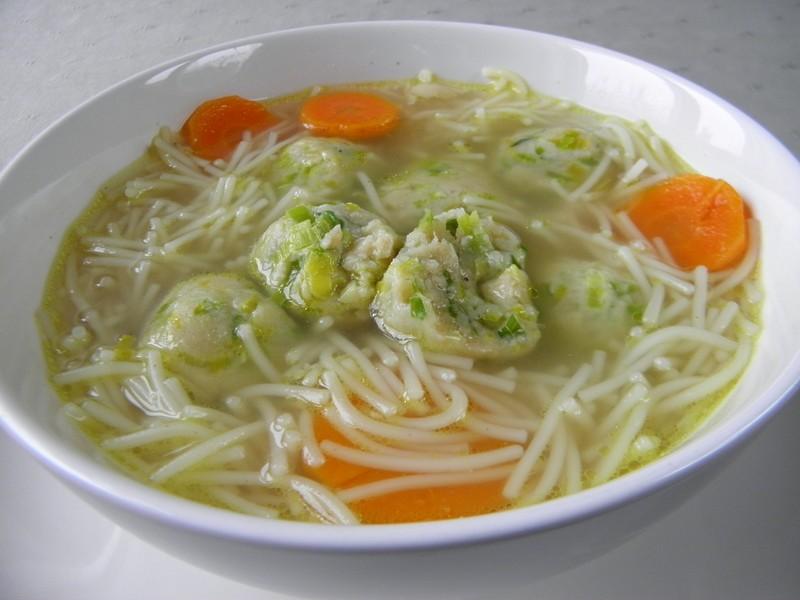 Pórkové knedlíčky do polévky
