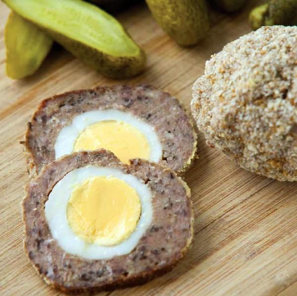 Pštrosí vejce z mletého masa
