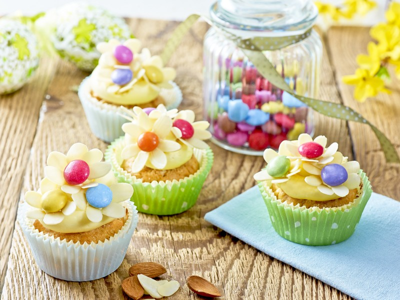 Rozkvetlý jarní cupcake