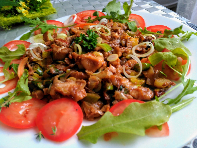 Rychlá a chutná večeře - čína z hlívy a pórku