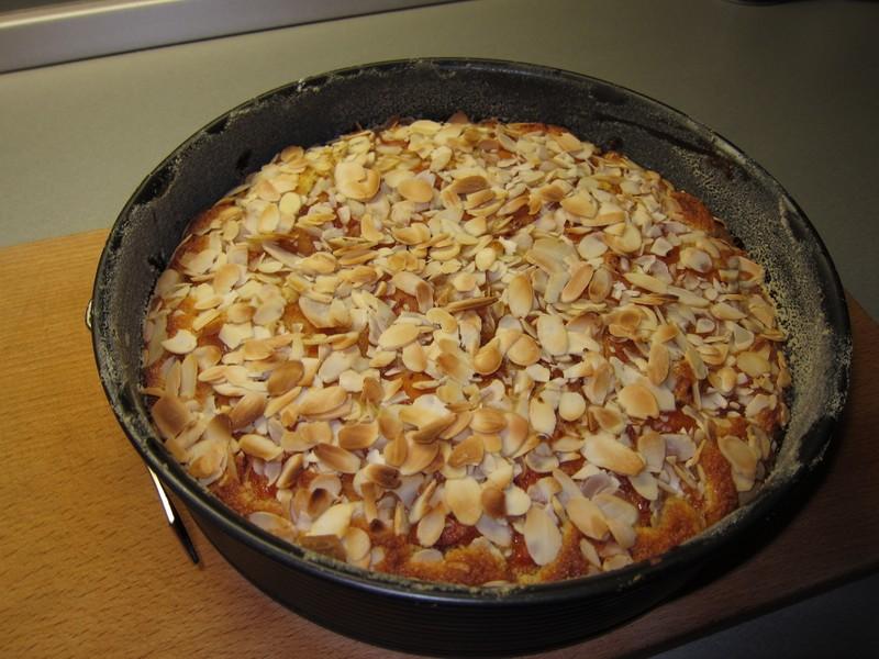 Rychlý meruňkový koláč s kokosem