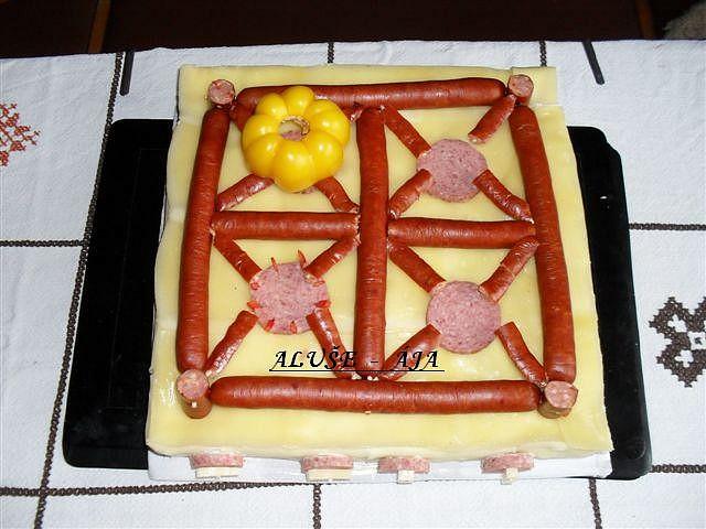 Slaný dort - sporák