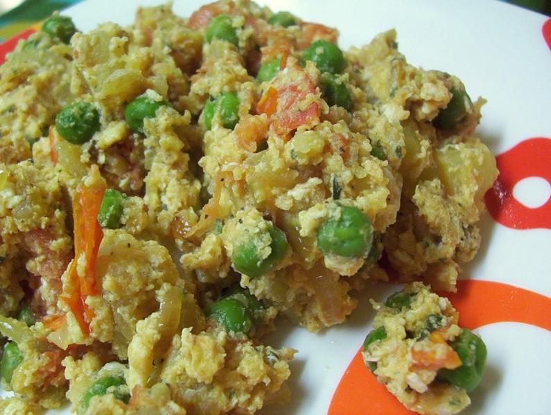 Smažená zelenina s vejci