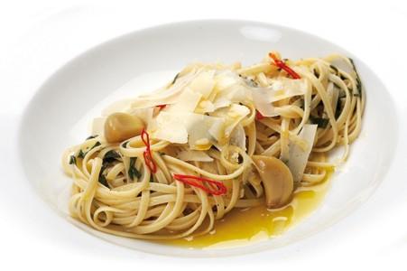 Špagety Aglio olio, peperoncino