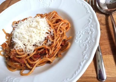 Špagety chorizo
