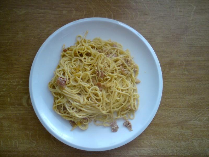 Špagety na víně