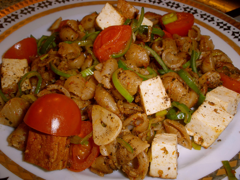 Špaldové mušličky s tofu a zeleninou