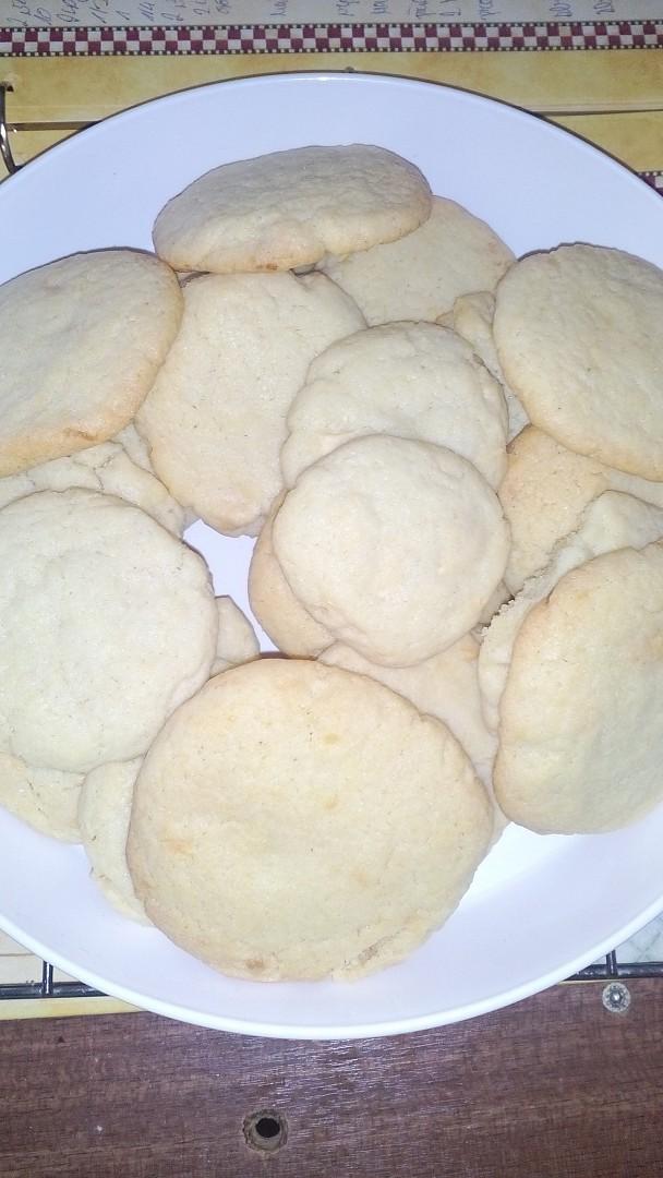 Sušenky s bílou čoko