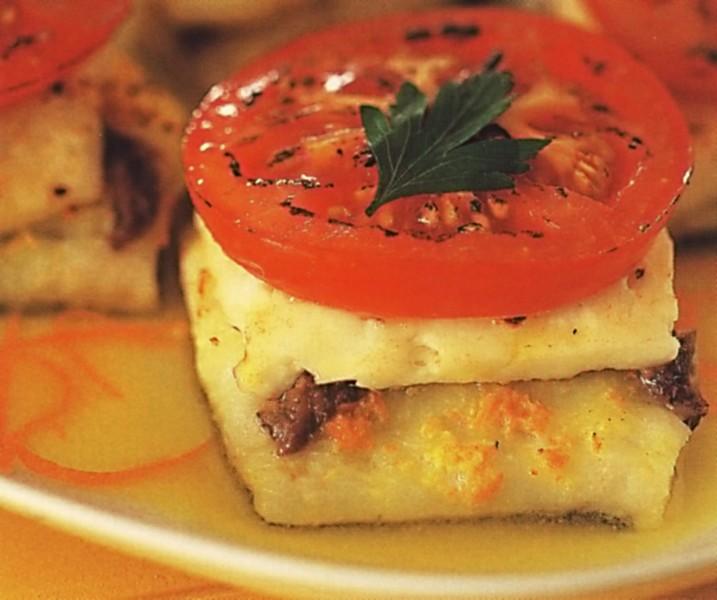 Treska se sýrem a rajčaty