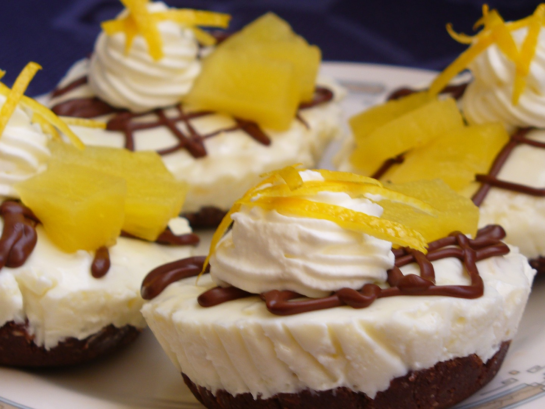 Tvarohové nepečené mufiny s ananasem