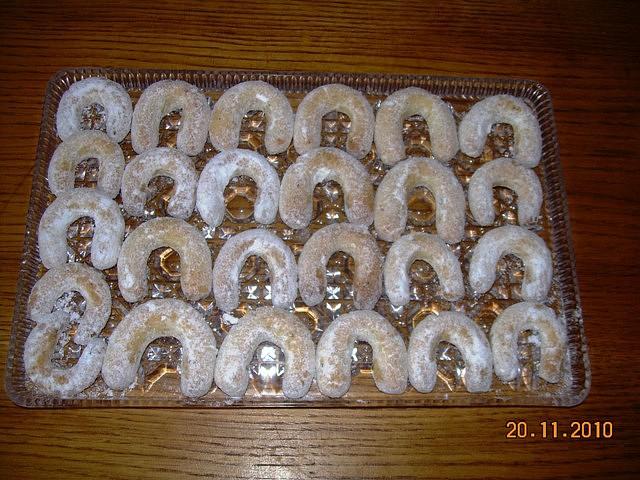 Vanilkové rohlíčky, moje první v životě