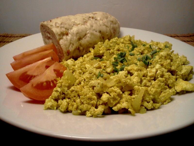 Veganská míchaná vejce z tofu