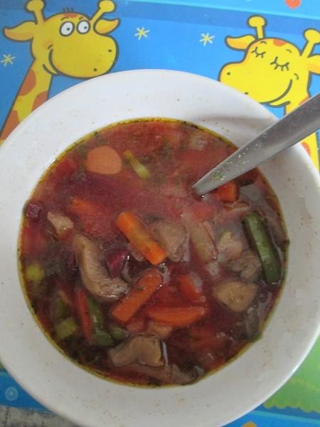 Veganská polévka s hlívou